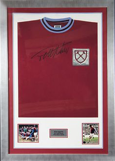 This hand signed shirt buy the legend himself, Sir Geoff Hurst comes in a branded acrylic front which means we can ship this worldwide!