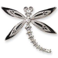 Jeweled Dragonfly Brooch