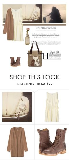 """""""#96"""" by kgarden ❤ liked on Polyvore featuring Polaroid, Monki, 81hours, Frye and Cultural Intrigue"""