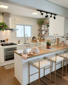Home design inspiration ( Kitchen Room Design, Home Decor Kitchen, Interior Design Kitchen, Modern Kitchen Interiors, Kitchen Items, Kitchen Small, Small Kitchen Layouts, Cuisines Design, Home And Deco