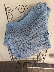 Ravelry: Lacy Trellis Asymetrical Poncho pattern by Jennifer Uribe