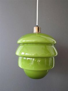 Unique Vintage Holmegaard Green Ceiling Lamp   £165 Out of stock