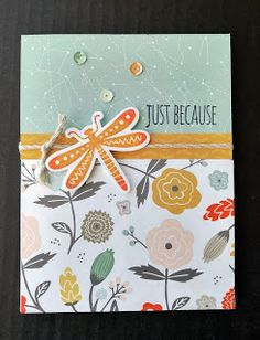Craft With Julie: March Craft Night Projects - Dreamin' Big. Just Because Card. Close to My Heart