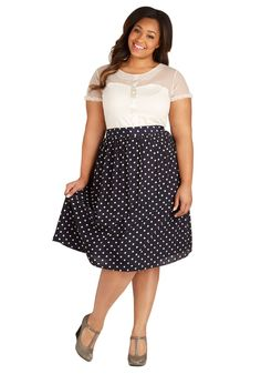 Want everything! Sway for Tea Skirt in Dots - Plus Size, #ModCloth