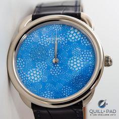 Hermès Arceau Millefiori with artisanal crystal dial by Cristalleries Royales de Saint-Louis