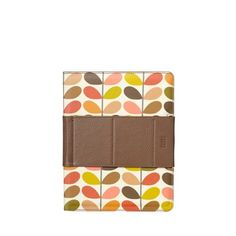Orla Kiely iPad case...rotates 360* and has an adjustable velcro stand that doesn't slip. Love it!