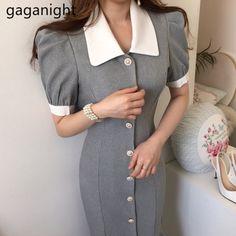 Korean Dress, Cheap Dresses, Summer Dresses, Office Ladies, Elegant Woman, Fashion Models, Beautiful Dresses, Vintage Dresses, Hubble Bubble