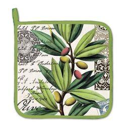 Amazon.com: Michel Design Works Kitchen Pot Holder, Olive Grove: Home & Kitchen