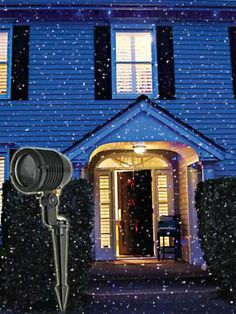 Outdoor Laser Holiday Lights Super easy no tangled wires no high energy bills innovative blue firefly landscape laser light easy outside lights for christmas workwithnaturefo