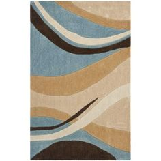 "Safavieh Modern Art Blue/Brown Rug Rug Size: 2'-6"" X 10'"