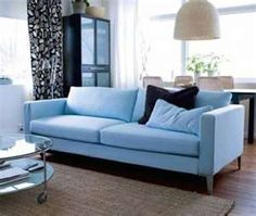 sky blue couch <3 it