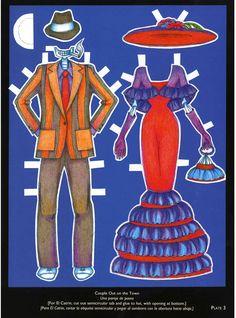 Day of the Dead/Dia delos Muertos Paper Dolls Costumes: Dover Publications Samples