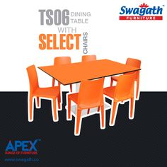 Steel base TS06 dining #table with Select model #chairs is an excellent combination to match any kind of dining room interior design!!