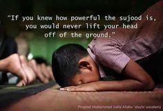 jika Anda tahu bagaimana kuat sujud adalah, Anda tidak akan pernah mengangkat kepala Anda dari tanah