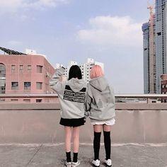 Korean Couple, Korean Girl, Asian Girl, Best Friend Pictures, Couple Pictures, Korean Best Friends, Girl Couple, Uzzlang Girl, Ulzzang Couple