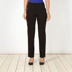 The Collection Petite Petite black slim fit trousers- at Debenhams.com