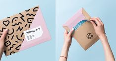 Logo, package design and design for mobile printing app from Russia, where everyone can turn their best moments into awesome products, such as photos, photo albums, photo collages etc. and get them in modern packages. Millennial women are a prime target a…