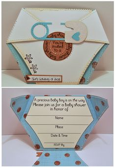 Diaper baby shower invite