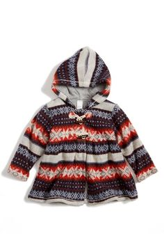Tucker + Tate Fair Isle Hooded Jacket (Baby Girls) available at #Nordstrom