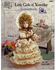 Little Girls of Yesterday Crocheted Dress for by grammysyarngarden, $4.50