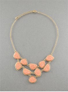 Peach Melanie Necklace. Shop online at: https://psiloveyoumore.storenvy.com