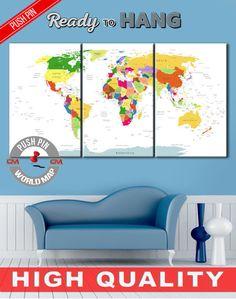 Push pin travel map, Travel map with pins, Push pin world map, Map push pin, Pin it map, Push pin world, Travel pin map, Push pin travel map    High quality canvas prints! #interiordesign #interiorstyle #decorating #decorate #decor #artforsale #CanvasPrint #CanvasPrints #CanvasArt #homedecor #officedecor #canvas #CanvasMafia #ideaforgift