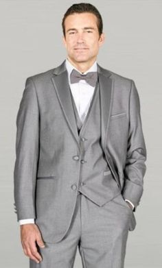New light grey framed Notch lapel wedding tuxedos which are made of exceptional two button lapel notch from mensusa.