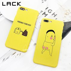 Funny Character Phone Case For iphone 7 Case Fashion Hard Cover Cartoon Letter Cases For iphone 7 PLus Friends Forever