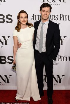 Honeymoon phase: Leighton Meester and Adam Brody, who wed in February, made their first public appearance as a couple at Sunday's Tony Award...