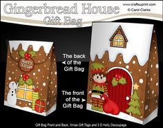 **COMING SOON** -  This lovely Little Elf at the Gingerbread House Gift Bag kit will be available here within 12 hours - http://www.craftsuprint.com/carol-clarke/?r=380405