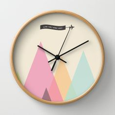Wish You Were Here Wall Clock by IAMTHELAB.com