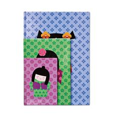 China girls A4 Notebook with lined paper.
