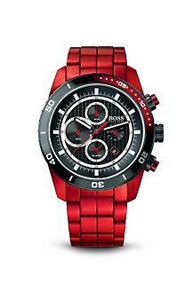 $595 #HugoBoss Chronograph Silicon Strap '1512744' Watch  RED BABY!