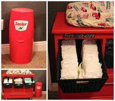 http://www.dressesforbabygirls.com/category/diaper-genie-refill/ Genius. Never thought about painting the Diaper Genie.