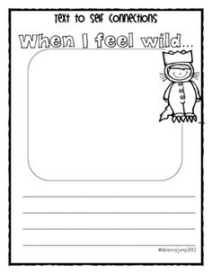 FREEBIE!  Enjoy this freebie from my newly revised Wild Things unit.  Thanks!  Deanna Jump http://www.teacherspayteachers.com/Product/Wild-Things-Literacy-an...