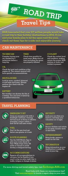 Road Trip Travel Tips Infographic #roadtrip