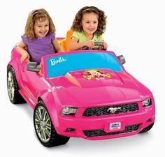 Fisher-Price Power Wheels Barbie Mustang Car Ride On Electric Kids Outdoor Toy - Go Shop Hobbies & Toys Car Girls, Toys For Girls, Barbie Power Wheels, Chevy, Ford Mustang Car, Pink Mustang, Ford Mustangs, Gif Disney, Dc Super Hero Girls