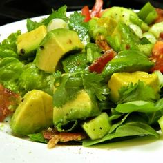 "Bacon Avocado Salad | ""Easy, healthy, and delicious. Can't stop making it!"""
