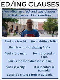 #tefl #tesol #grammar #esl #tefl #learnenglish AskPaulEnglish: ED/ING Clauses