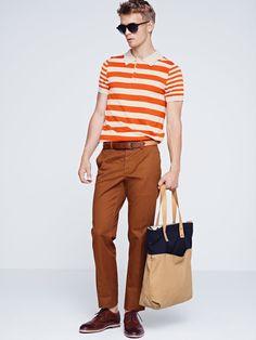 Polo Shirt, Glasses, Bag.