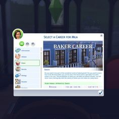 Baker Career by Piscean6 at Mod The Sims