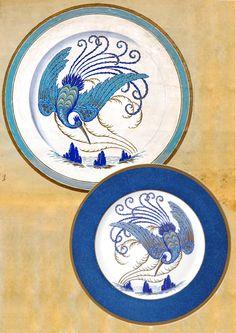 Bernardaud - Oiseau chimère bleu. Edité par Le grand dépôt. Exposition Paris 1925 - #bernardaud #porcelaine #porcelain #savoirfaire #history
