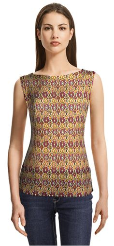Multi colored blouse with short sleeve Blouse Online, Blouses For Women, Tank Tops, Sleeve, Fabric, Collection, Fashion, Manga, Tejido