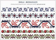 Semne Cusute: 2014 Cross Stitch Borders, Cross Stitch Patterns, Hand Knitting, Knitting Patterns, Romanian Lace, Palestinian Embroidery, Folk Embroidery, Stitch Design, Beading Patterns