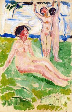 Edvard Munch - 1910/14, Harvesting Women.  Munch-museet  (Norway - Oslo)