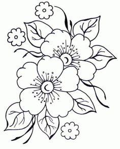 Dibujo de flores para bordar - Imagui