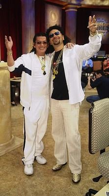 Daniel Negreanu (right) played an entire round of the Heads Up Poker Championship on NBC versus Scotty Nguyen dressed as... Scotty Nguyen (left).