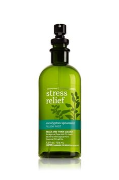 Eucalyptus Spearmint - Pillow Mist - Aromatherapy - Bath & Body Works - An authentic aromatherapy experience, designed to freshen pillows and sheets. Our exclusive blend of essential oils calms and clears the mind for a truly restful, peaceful slumber. Breathe deeply for best results.