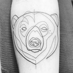 Linear Tattoo Design Ideas – Beauty Life Tips One Line Tattoo, Line Art Tattoos, Tattoo Drawings, I Tattoo, Henna Designs, Tattoo Designs, Tattoo Ideas, Bear Tattoos, Tatoos
