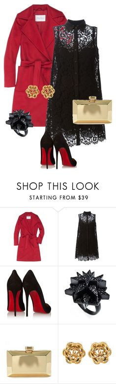 """на выход"" by stels-89 ❤ liked on Polyvore featuring MaxMara, Dolce&Gabbana, Christian Louboutin, Eddie Borgo and LULUS"
